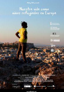 Cartel de Nuestra vida como niños refugiados en Europa